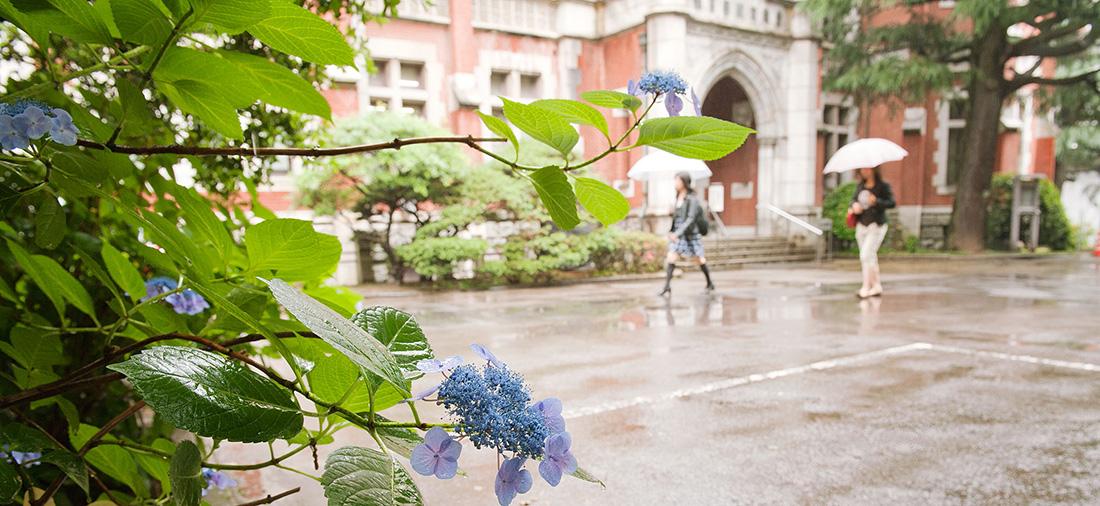 日吉学生風景